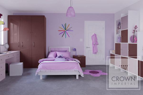 Purple Girls Bedrooms at Tytherleigh Bedrooms Devon and Dorset