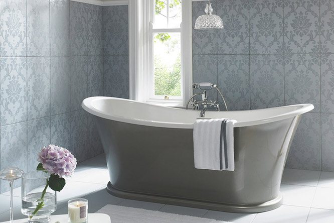 Damask Rolltop Bathtub Tytherleigh Bathrooms Devon